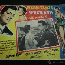 Cine: SARITA MONTIEL CARTELERA MEXICANA DE LA PELICULA SERENATA CON MARIO LANZA 30 X40 CTMS . Lote 40208020