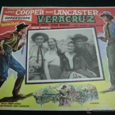 Cine: SARITA MONTIEL CARTELERA MEXICANA DE LA PELICULA VERACRUZ CON GARY COOPER Y BURT LANCAS 30 X40 CTMS . Lote 40208060