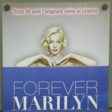 Cine: QI71 CON FALDAS Y A LO LOCO MARILYN MONROE POSTER ORIGINAL 33X70 ITALIANO. Lote 40281500