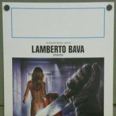 Cine: QI81 LAMBERTO BAVA GIALLO MORIRAI A MEZZANOTTE GIALLO POSTER ORIGINAL 33X70 ITALIANO. Lote 40282663