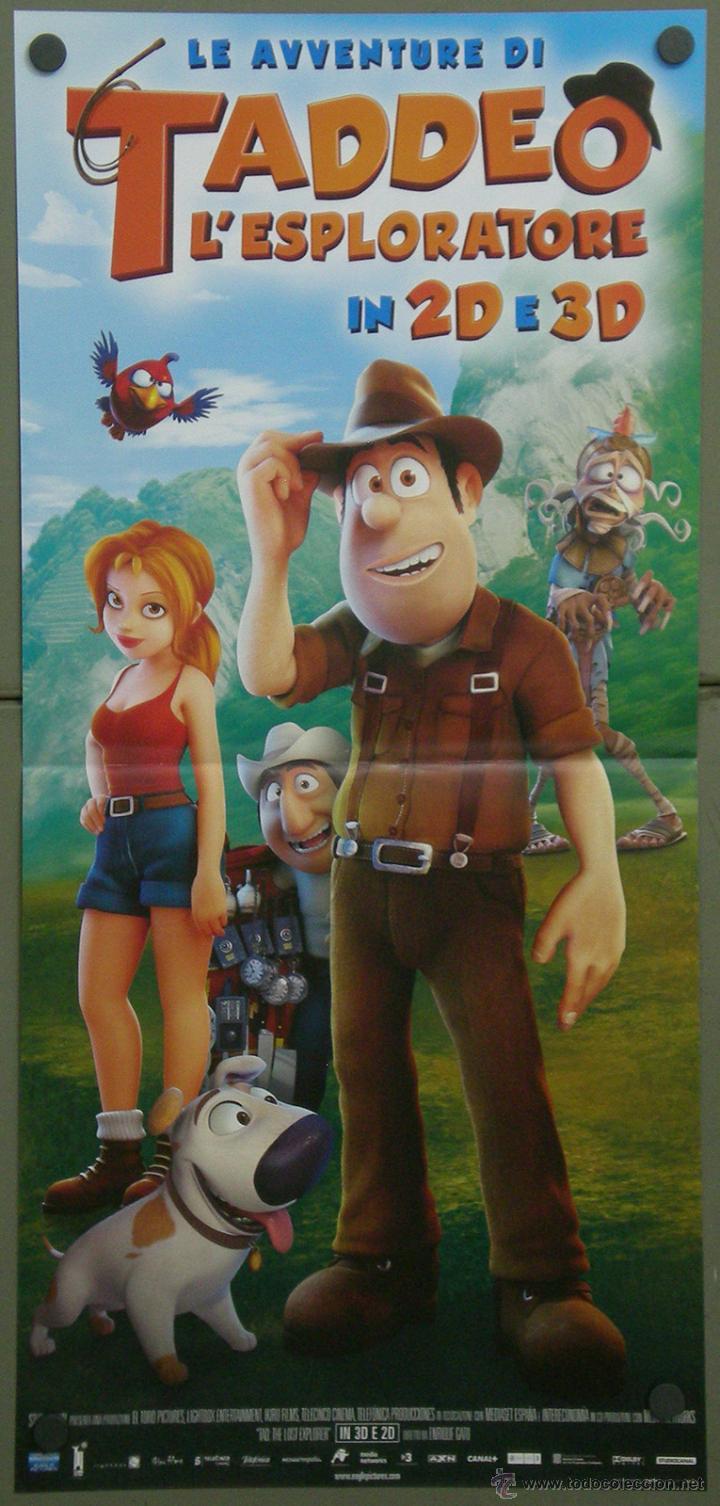 QI83 LAS AVENTURAS DE TADEO JONES ANIMACION POSTER ORIGINAL 33X70 ITALIANO (Cine - Posters y Carteles - Infantil)