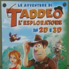 Cine: QI83 LAS AVENTURAS DE TADEO JONES ANIMACION POSTER ORIGINAL 33X70 ITALIANO. Lote 40282782