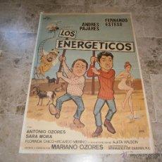 Cine: CARTEL DE CINE - LOS ENERGETICOS - PAJARES, ESTESO Y OZORES - ORIGINAL AÑO 1979. . Lote 40325286