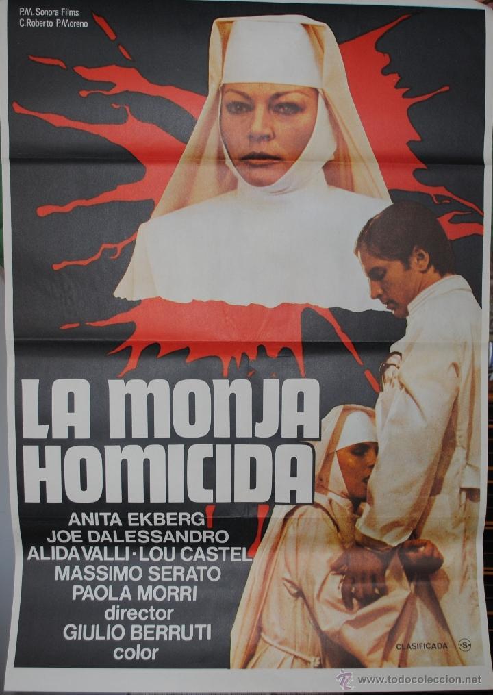 CARTEL DE CINE ORIGINAL LA MONJA HOMICIDA, 70 POR 100CM, LEER (Cine - Posters y Carteles - Terror)