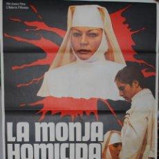 Cine: CARTEL DE CINE ORIGINAL LA MONJA HOMICIDA, 70 POR 100CM, LEER. Lote 40089178