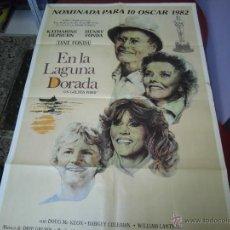 Cine: KATHARINE HERPBURN, HENRY FONDA CARTEL ARGENTINO DE LA PELICULA EN LA LAGUNA DORADA 70 X 110 CTMS. Lote 40343760