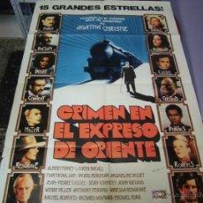 Cine: INGRID BERGMAN CARTEL ARGENTINO DE LA PELICULA CRIMEN EN EL ESPRESO DE ORIENTE 75 X 110 CTMS. Lote 40345346