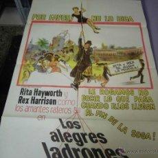 Cine: RITA HAYWORTH CARTEL ARGENTINO DE LA PELICULA LOS ALEGRES LADRONES 75 X 110 CTMS. Lote 40345428
