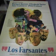 Cine: ELIZABETH TAILOR CARTEL ARGENTINO DE LA PELICULA LOS FALSANTES 75 X 110 CTMS. Lote 40345465
