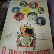 Cine: CARMEN SEVILLA LOLA FLORES CARTEL ARGENTINO DE LA PELICULA EL TAXI DE LOS COMFLICTOS 75 X 110 CTMS. Lote 40345572