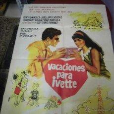 Cine: GRACIA MORALES CARTEL ARGENTINO DE LA PELICULA VACACIONES PARA Y VETTE 75 X 110 CTMS. Lote 40345624