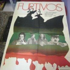 Cine: LOLA GAOS, ALICIA SANCHEZ CARTEL ARGENTINO DE LA PELICULA FURTIVOS 75 X 110 CTMS. Lote 40345809