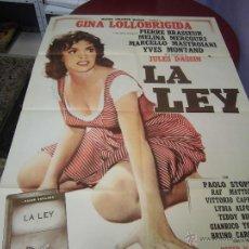Cine: GINA LOLLOBRIGIDA CARTEL ARGENTINO DE LA PELICULA LA LEY 75 X 110 CTMS. Lote 40345890