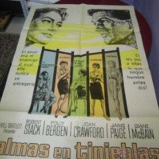 Cine: JOAN CRAWFORD ARGENTINO DE LA PELICULA ALMAS EN TINIEBLAS 75 X 110 CTMS. Lote 40345947