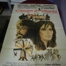 Cine: SOFIA LOREN PETER E,TOOLE ARGENTINO DE LA PELICULA EL HOMBRE DE LA MANCHA 75 X 110 CTMS. Lote 40345996
