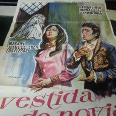 Cine: PEDRITO RICO Y MASSIEL CARTEL DE LA PELICULA VESTIDA DE NOVIA 120 X 80 CTMS. ECHO EN ESPAÑA AÑO 1967. Lote 40421138