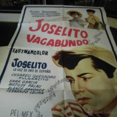 Cine: JOSELITO CARTEL DE LA PELICULAJOSELITO VAGAVUNDO 120 X 80 CTMS. . Lote 40426212