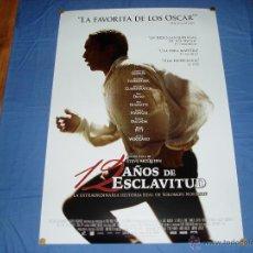 Cine: 12 AÑOS DE ESCLAVITUD. POSTER O CARTEL DE CINE ORIGINAL. NUEVO. MAGNIFICO ESTADO.. Lote 245107760