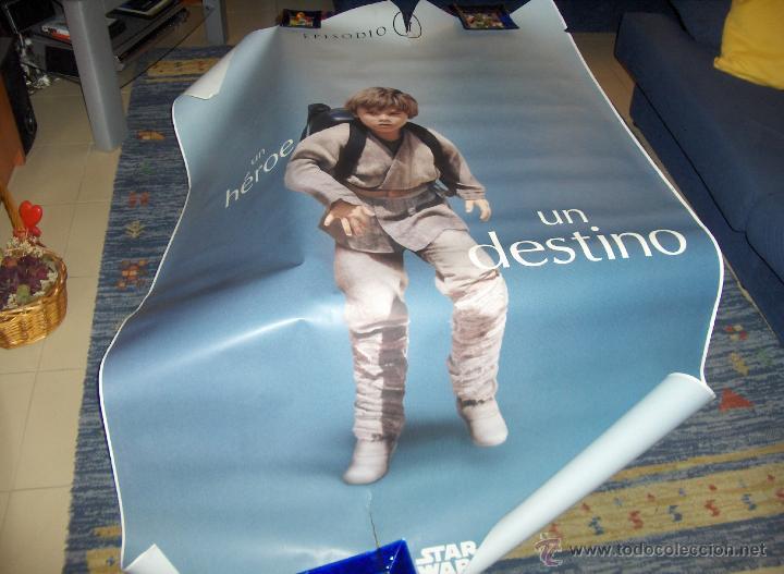STAR WARS EPISODIO I LA AMENAZA FANTASMA 170X120 CMS. ANAKIN SKYWALKER. CARTEL DE MARQUESINA ÚNICO. (Cine - Posters y Carteles - Ciencia Ficción)