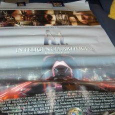 Cine: AI INTELIGENCIA ARTIFICIAL TREMENDO CARTEL DE MARQUESINA 170X120 CMS. STEVEN SPIELBERG.. Lote 40628442