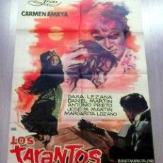 Cine: LOS TARANTOS 1963 ORIGINAL CARMEN AMAYA ; ROVIRA BELETA 100X70 ESTRENO DISEÑO JANO. Lote 40706471