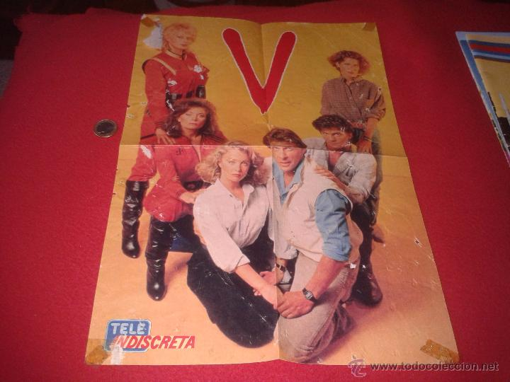 POSTER SERIE TVE V LOS LAGARTOS AÑOS 80 REVISTA TELEINDISCRETA MARC SINGER FAYE GRANT. ESCASO CARTEL (Cine - Posters y Carteles - Ciencia Ficción)