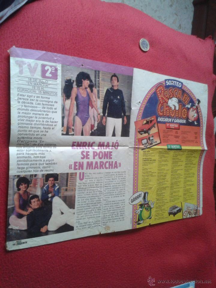 Cine: POSTER SERIE TVE V LOS LAGARTOS AÑOS 80 REVISTA TELEINDISCRETA MARC SINGER FAYE GRANT. ESCASO CARTEL - Foto 6 - 40712426