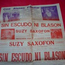 Cine: SANT BOI DE LLOBREGAT - CINE ATENEO - 1929 - POSTER PROGRAMA LOCAL . Lote 40756950