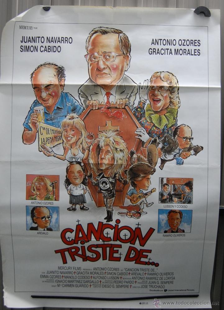 CARTEL DE CINE CANCIÓN TRISTE DE... ANTONIO OZORES GRACITA MORALES// ORIGINAL TAMAÑO 70X100 (Cine - Posters y Carteles - Clasico Español)