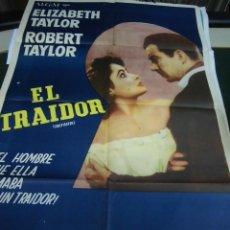 Cine: ELIZABETH TAYLOR , ROBERT TAYLOR CARTEL DE LA PELICULA EL TRAIDOR 120 X 80 CTMS. . Lote 40840834