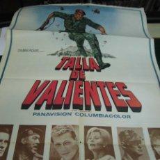 Cine: ALAIN DELON, ANTHONY QUINN Y MAS CARTEL DE LA PELICULA TALLA DE VALIENTES 120 X 80 CTMS. . Lote 40840896