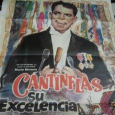 Cine: MARIO MORENO CARTEL DE LA PELICULA CANTINFLAS SU EXCELENCIA 120 X 80 CTMS. . Lote 40840989