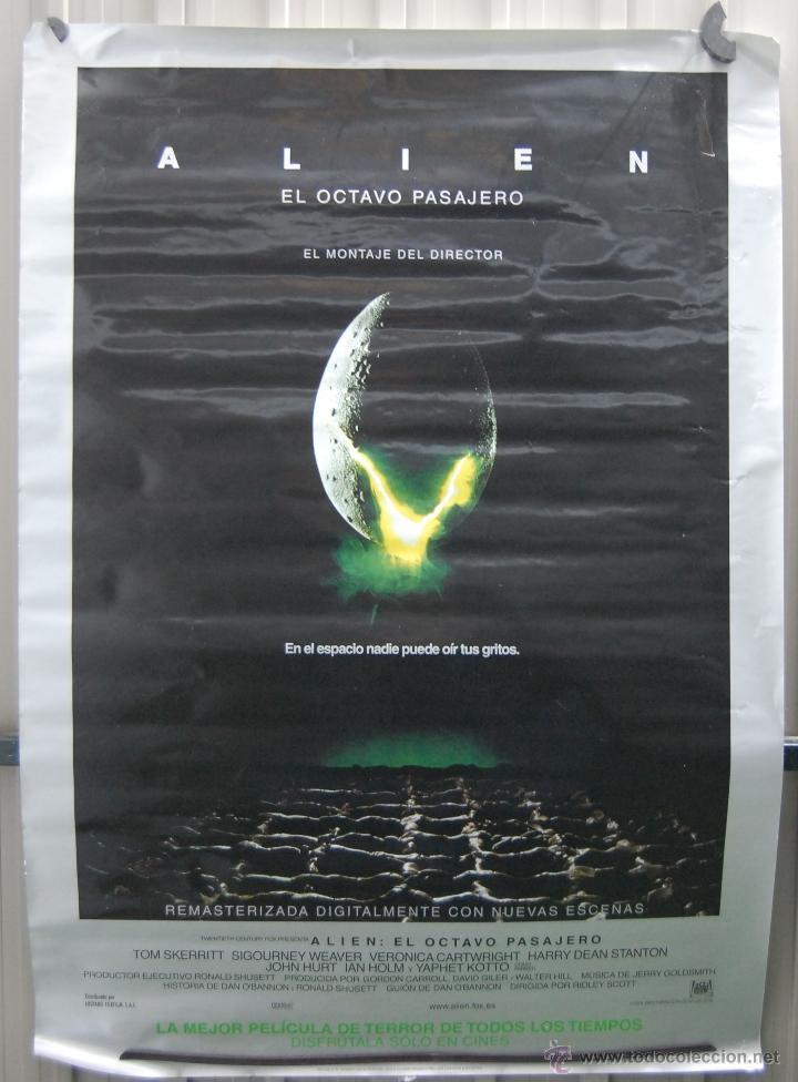 CARTEL DE CINE ALIEN EL OCTAVO PASAJERO // ORIGINAL TAMAÑO 70X100 (Cine - Posters y Carteles - Ciencia Ficción)