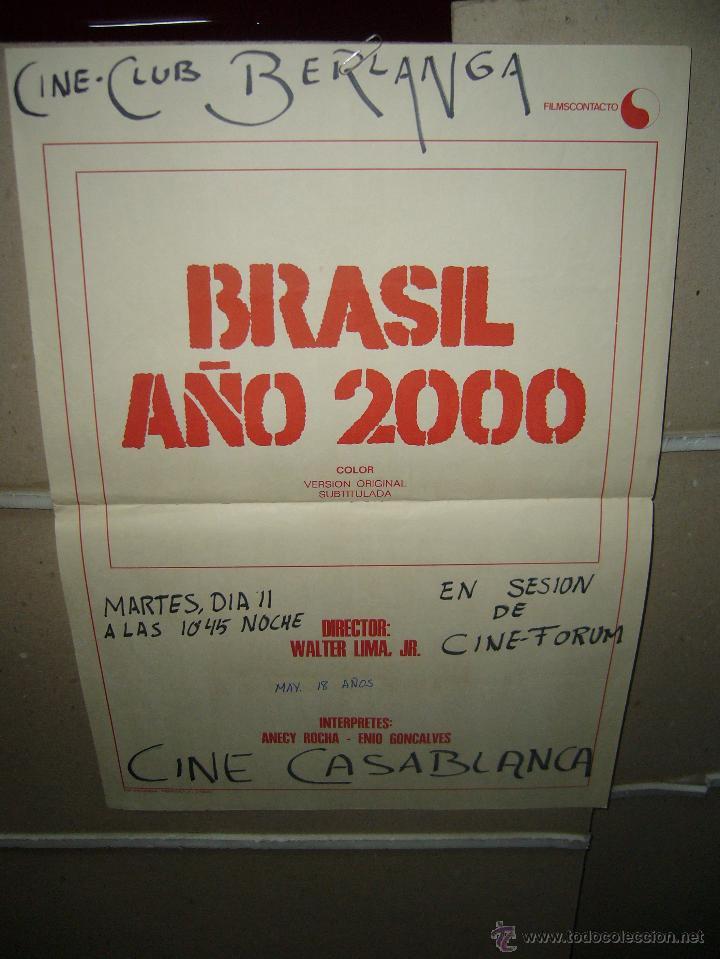 BRASIL AÑO 2000 WALTER LIMA JR POSTER ORIGINAL 60X40 (501) (Cine - Posters y Carteles - Documentales)