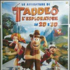 Cine: QJ60 LAS AVENTURAS DE TADEO JONES ENRIQUE GATO POSTER ORIGINAL ITALIANO 140X200. Lote 40909554