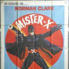 Cine: QJ70D MISTER X SUPERHEROE NORMAN CLARK HELGA LINE POSTER ORIGINAL 140X200 ITALIANO. Lote 40922874
