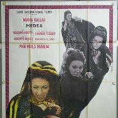 Cine: QJ58D MEDEA PIER PAOLO PASOLINI MARIA CALLAS POSTER ORIGINAL ITALIANO 140X200. Lote 40924653
