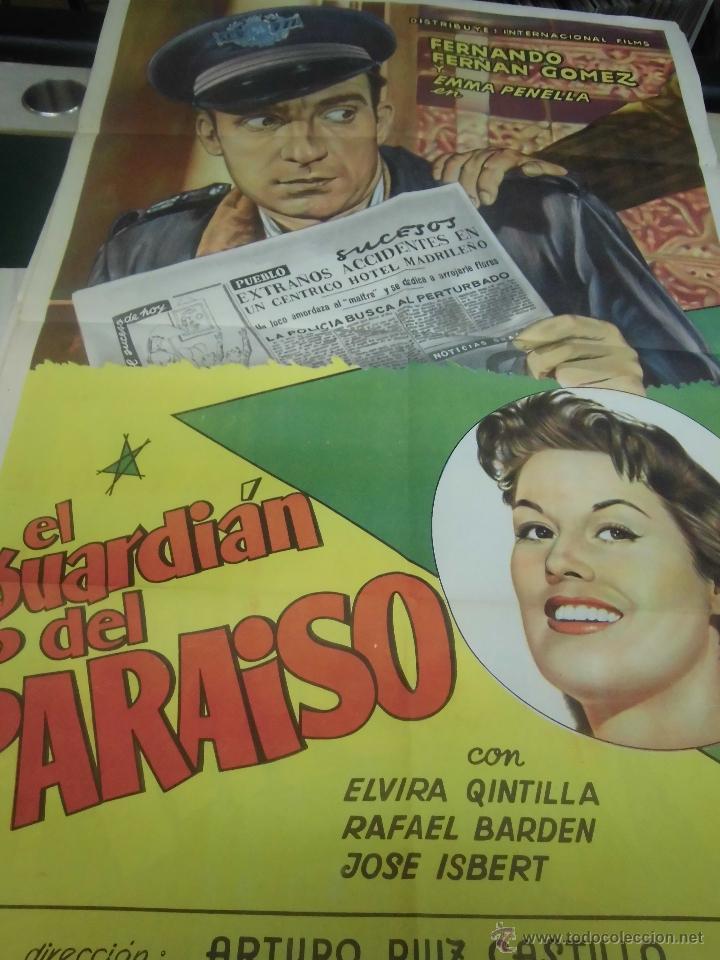 FERNANDO FERNAN GOMEZ, EMMA PENELLA CARTEL DE LA PELICULA EL GUARDIAN DEL PARAISO 100 X 70 CTMS (Cine - Posters y Carteles - Clasico Español)