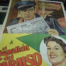 Cine: FERNANDO FERNAN GOMEZ, EMMA PENELLA CARTEL DE LA PELICULA EL GUARDIAN DEL PARAISO 100 X 70 CTMS. Lote 40957337
