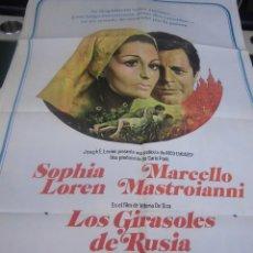 Cine: SOFIA LOREN, CARTEL DE LA PELICULA LOS GIRASOLES DE RUSIA 100 X 70 CTMS HECHO EN ARGENTINA . Lote 40957616