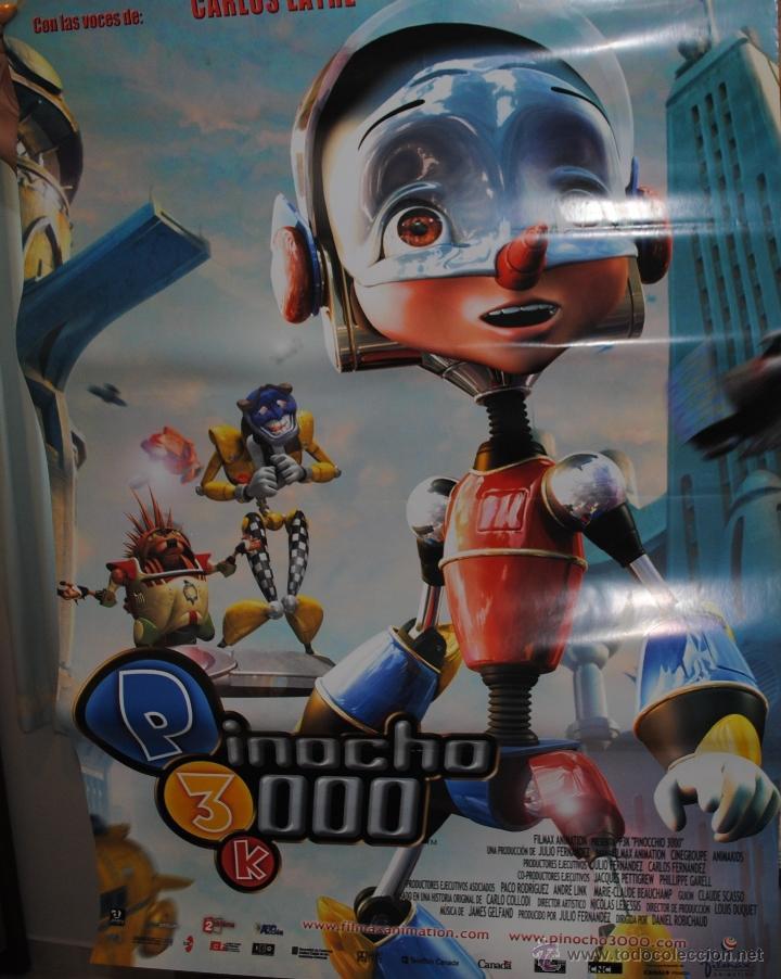 CARTEL DE CINE ORIGINAL DE LA PELÍCULA PINOCHO 3000, P3K, 70 POR 100CM (Cine - Posters y Carteles - Infantil)