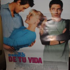 Cine: CARTEL DE CINE ORIGINAL DE LA PELÍCULA EL CHICO DE TU VIDA, TRES SON MULTITUD, 70 POR 100CM. Lote 40980490