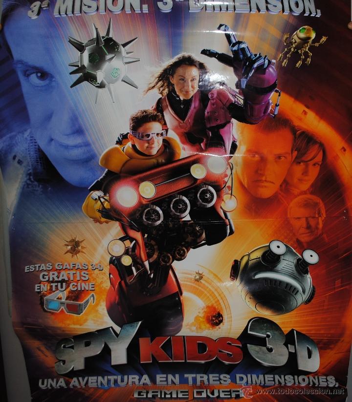 CARTEL DE CINE ORIGINAL DE LA PELÍCULA SPY KIDS 3 D, GAME OVER, 70 POR 100CM (Cine - Posters y Carteles - Infantil)