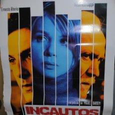 Cine: CARTEL DE CINE ORIGINAL DE LA PELÍCULA INCAUTOS, 70 POR 100CM. Lote 40981284