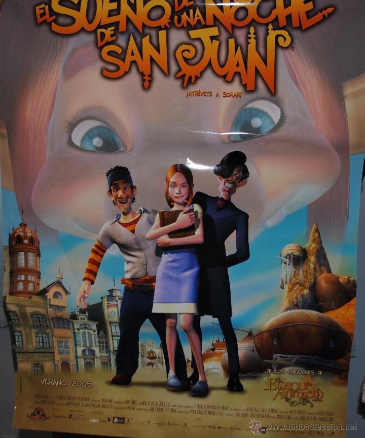 CARTEL DE CINE ORIGINAL DE LA PELÍCULA EL SUEÑO DE UNA NOCHE DE SAN JUAN, 70 POR 100CM (Cine - Posters y Carteles - Infantil)