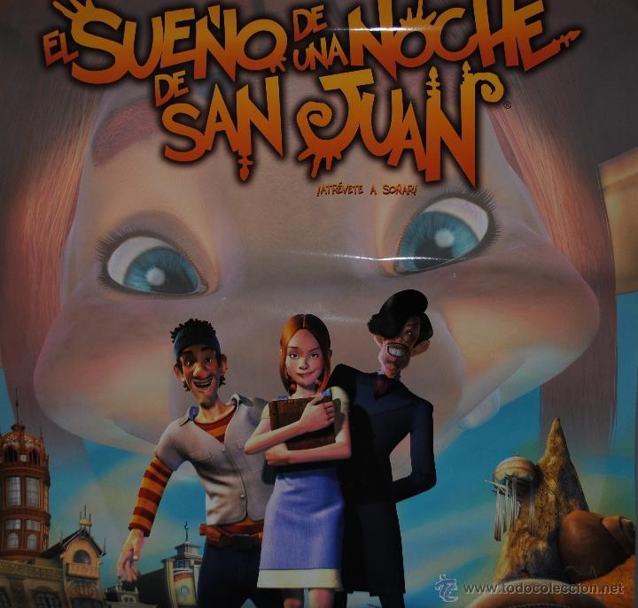 Cine: CARTEL DE CINE ORIGINAL DE LA PELÍCULA EL SUEÑO DE UNA NOCHE DE SAN JUAN, 70 POR 100CM - Foto 2 - 40981359