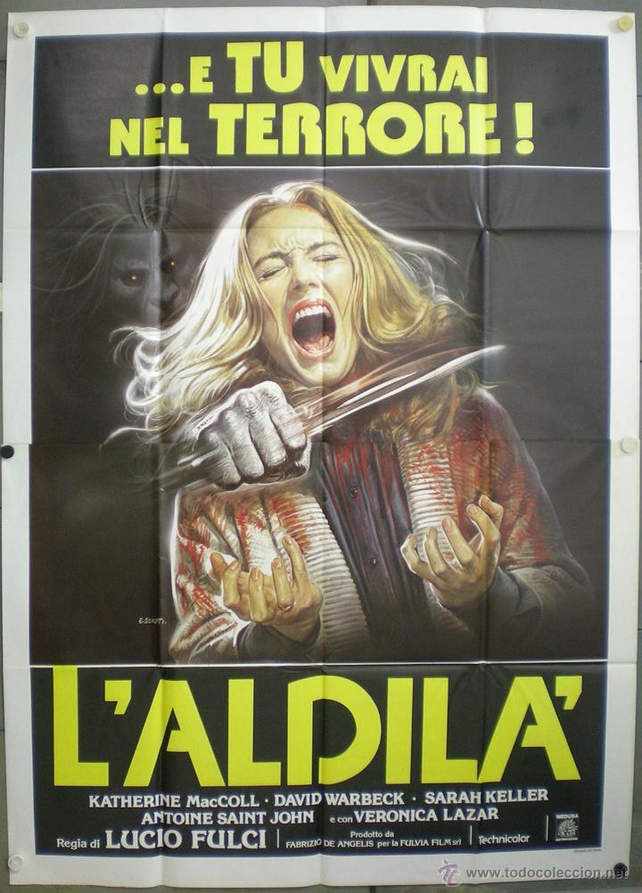 UD21 EL MAS ALLA L'ALDILA LUCIO FULCI POSTER ORIGINAL ITALIANO 140X200 (Cine - Posters y Carteles - Terror)