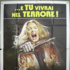 Cine: UD21 EL MAS ALLA L'ALDILA LUCIO FULCI POSTER ORIGINAL ITALIANO 140X200. Lote 40990891