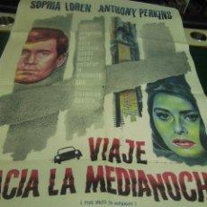 Cine: SOFIA LOREN CARTEL DE LA PELICULA VIAJE HACIA LA MEDIANOCHE 100 X 70 CTMS. HECHO EN ARGENTINA . Lote 40996166