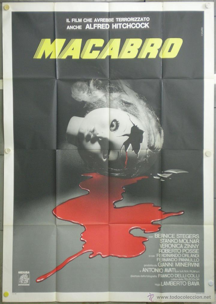 QJ89 MACABRO LAMBERTO BAVA POSTER ORIGINAL ITALIANO 140X200 (Cine - Posters y Carteles - Terror)